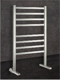 Thermorail Ladder - Floor Standing Square Profile Electric Heated Towel Rail - FS55E
