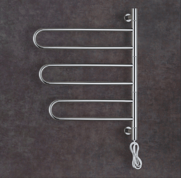 Thermogroup Thermorail Swivel - Round Profile Electric Heated Towel Rail - SV32