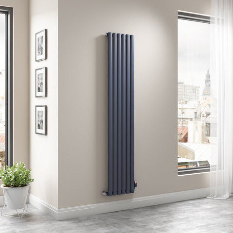 The Mayfair - Single Vertical Radiator - Anthracite