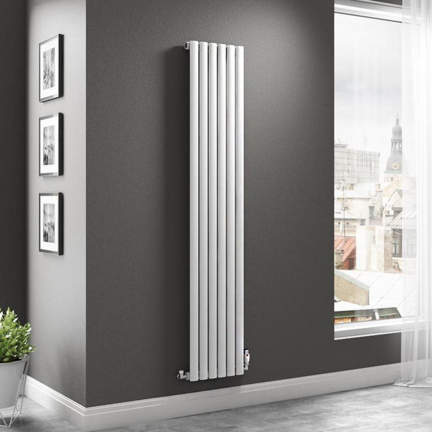 The Mayfair - Single Vertical Radiator - White