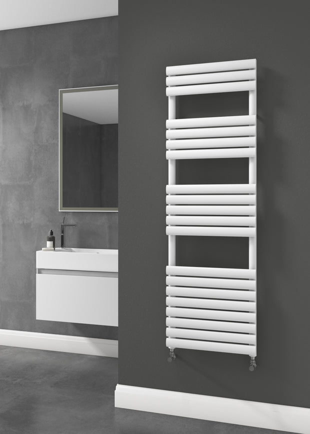 The Mayfair - Designer Towel Rail - White