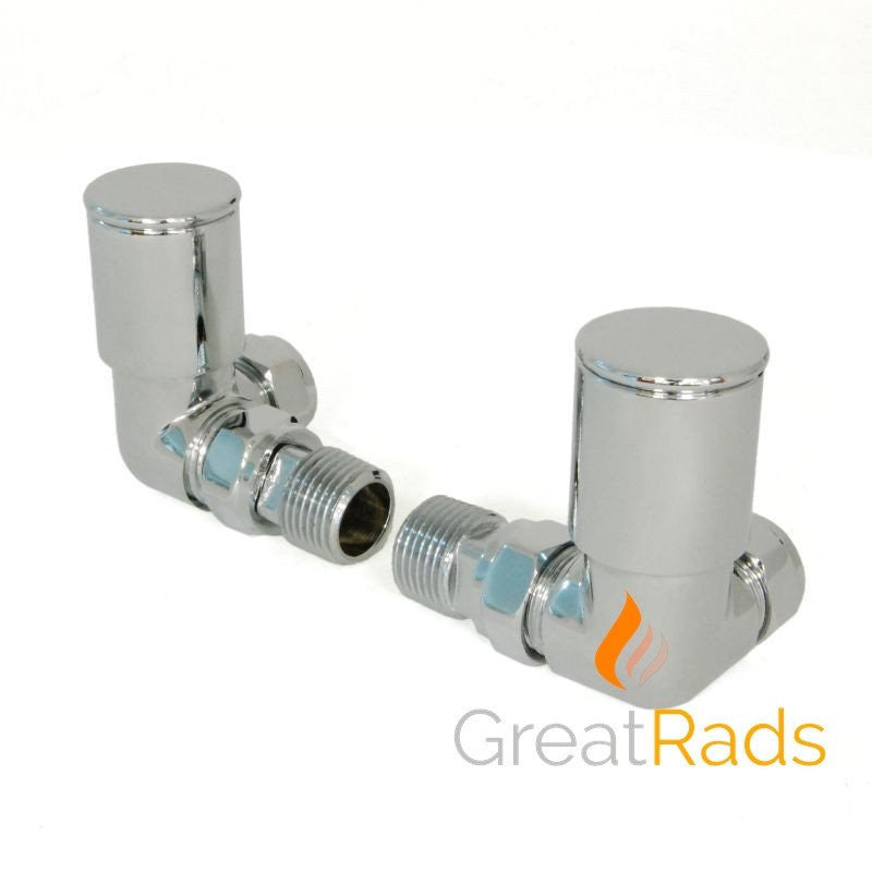Accessories - Milan Corner Chrome Radiator Valves (Pair)