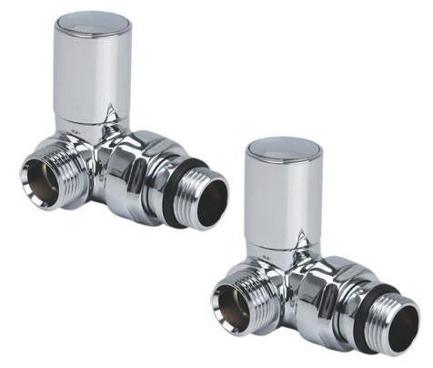 Reina Crova Corner Radiator Valve - Chrome - Pair - Accessories - Great Rads Ltd.