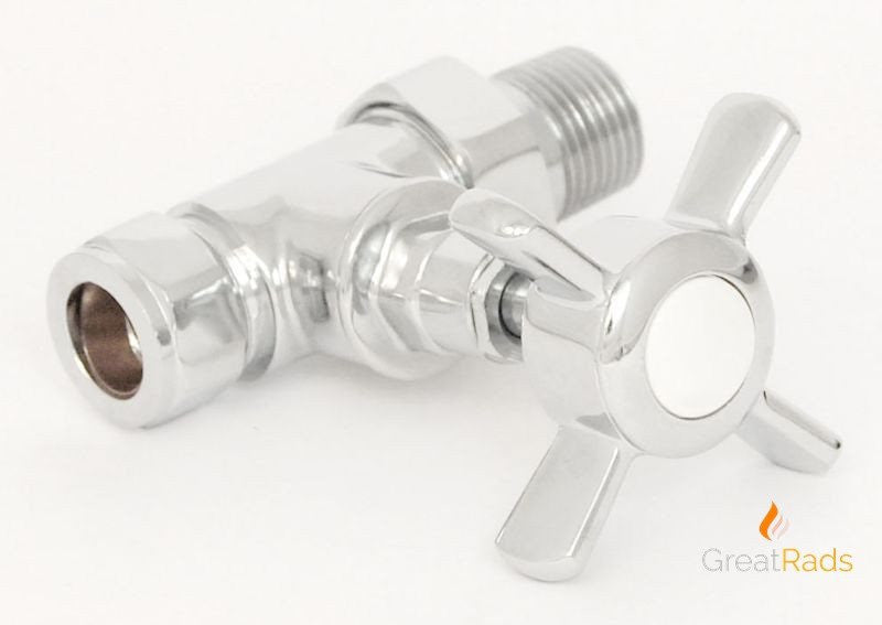 Accessories - Westminster Cross-head Rad Valves Straight Chrome (pair)