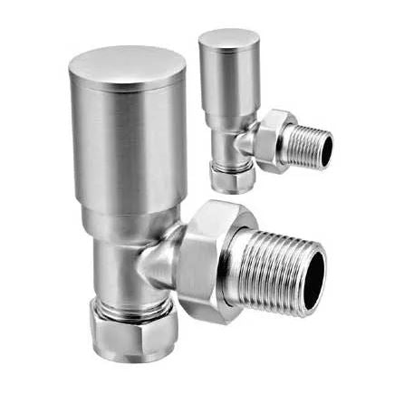 Reina Portland Angled Manual Radiator Valve Sets - Various Finishes