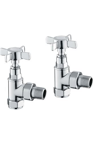 Reina Bronte Traditional Radiator Valve Set Chrome