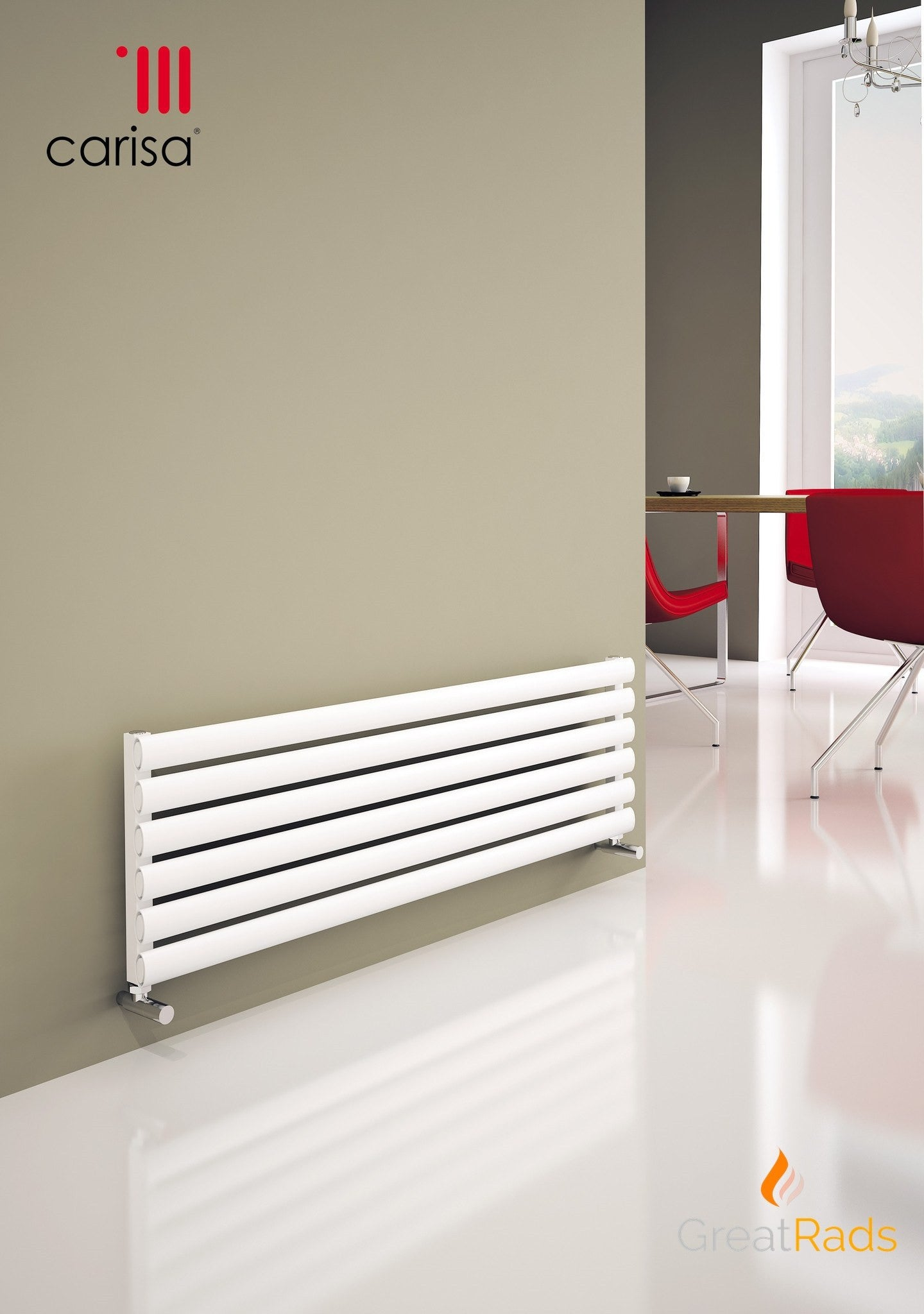 Carisa Tallis XL Aluminium Horizontal Radiator - Free UK Delivery ...