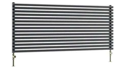 Designer Radiator - DQ Vulcano Horizontal Designer Radiator - White - Single Panel