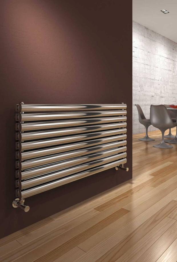 Reina Artena Horizontal Stainless Steel Radiator - Designer Radiator - Great Rads Ltd. - 1