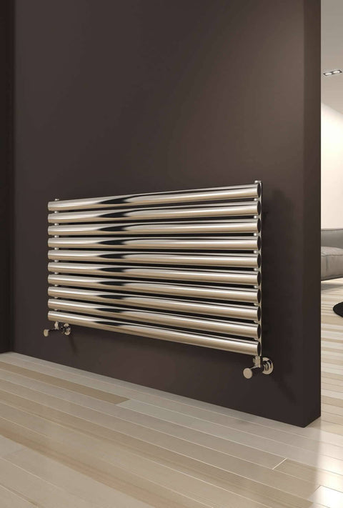 Reina Artena Horizontal Stainless Steel Radiator - Designer Radiator - Great Rads Ltd. - 2