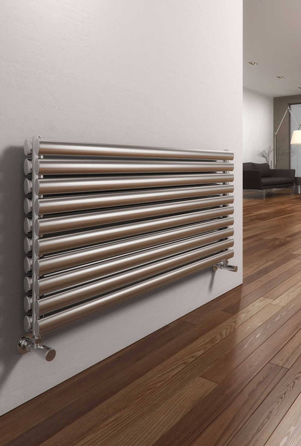 Reina Artena Horizontal Stainless Steel Radiator - Designer Radiator - Great Rads Ltd. - 3