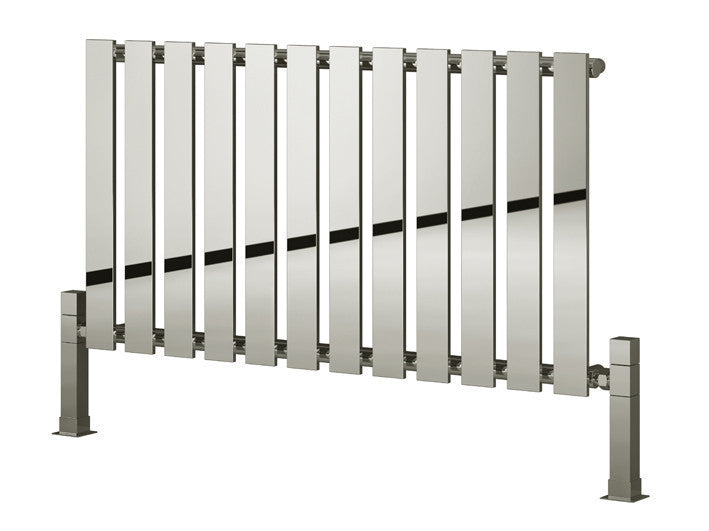 Brushed Chrome Bathroom Radiators: Reina Pienza Chrome Radiator