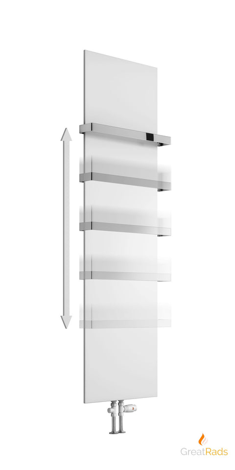 Designer Radiator - Reina Slimline Optional Towel Bar