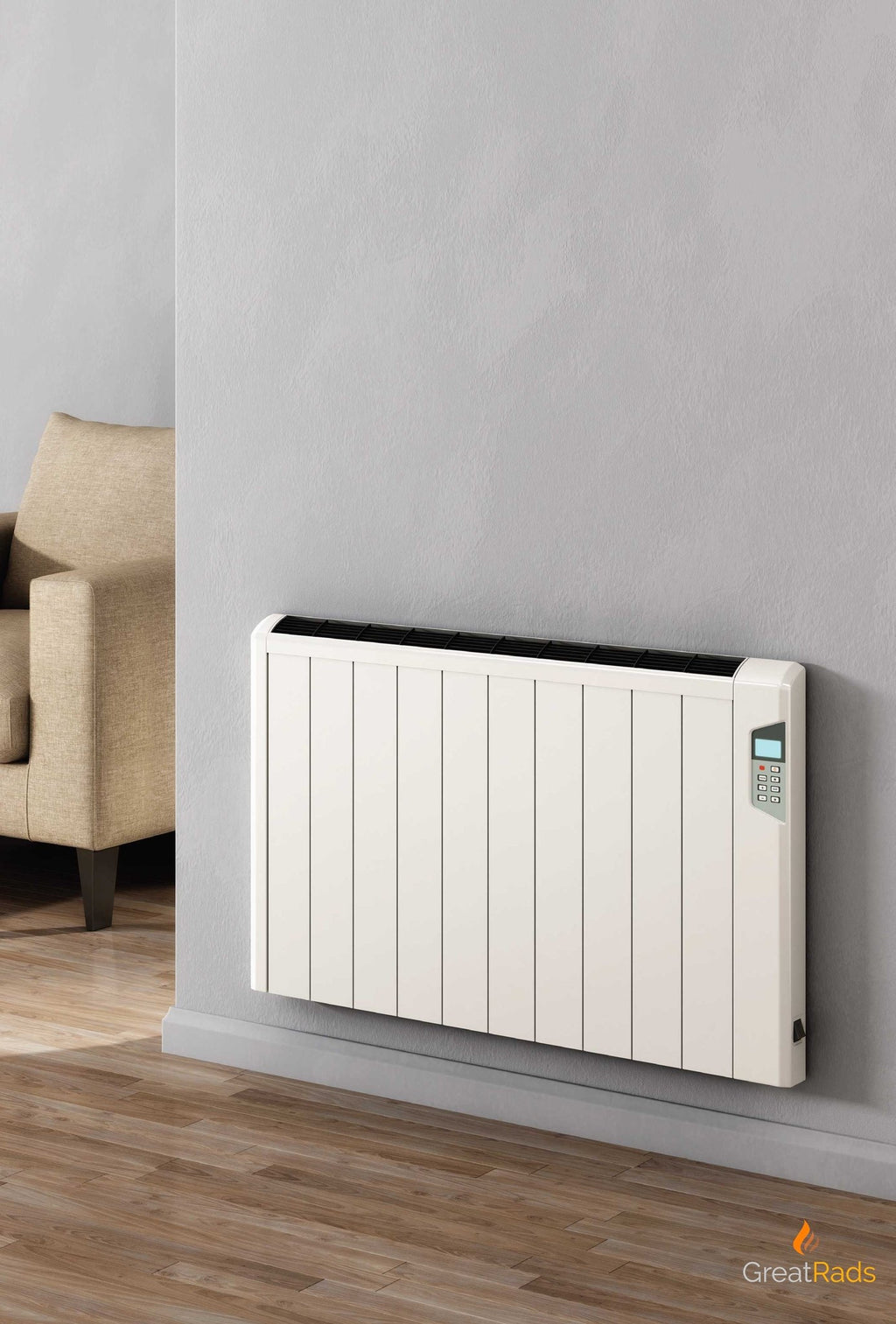 Electric Radiator - Reina Arlec Aluminium Electric Radiator