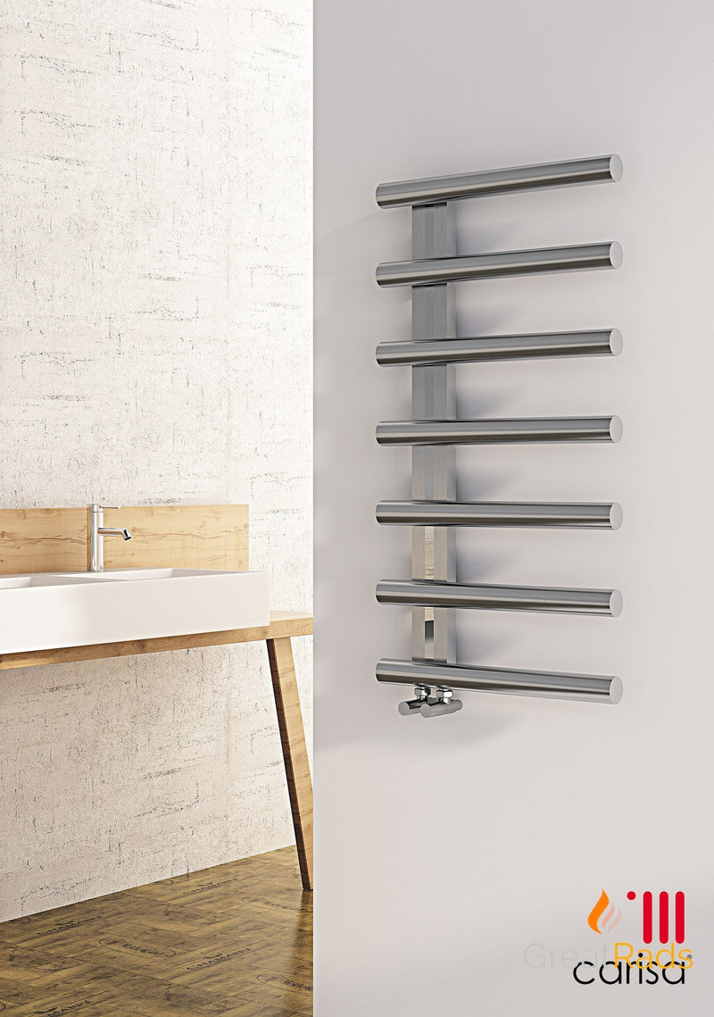 Towel Radiator - Carisa Ivor Stainless Steel Towel Radiator