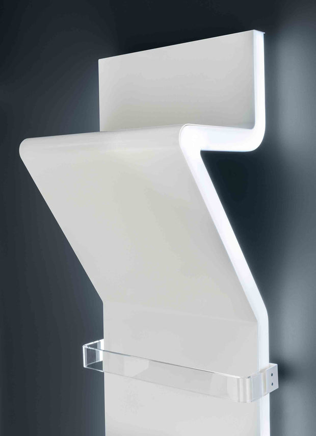 TRC Tratto Towel Radiator Close Up - with LED Light