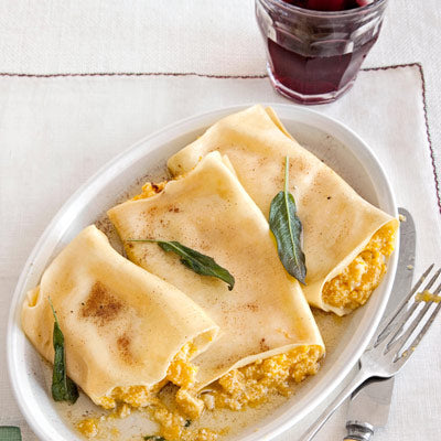 Pumpkin Cannelloni with Butter Sauce