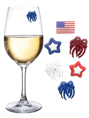 Simply Charmed 4th of July Wine Glass Markers