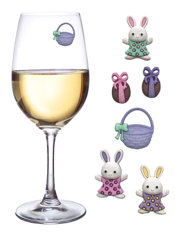 Easter Magnetic Wine Charms by by Simply Charmed