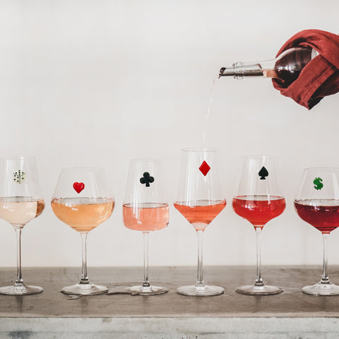 Casino Magnetic Wine Glass Charms