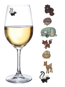 Great Outdoors - Set of 7 Wilderness Wine Charms by Simply Charmed