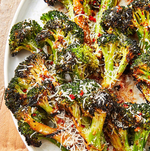 Grilled Broccoli by June Xie