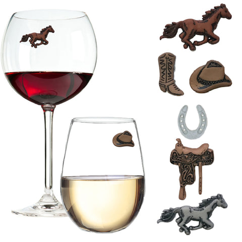 Horses Derby Western Magnetic Wine Charms