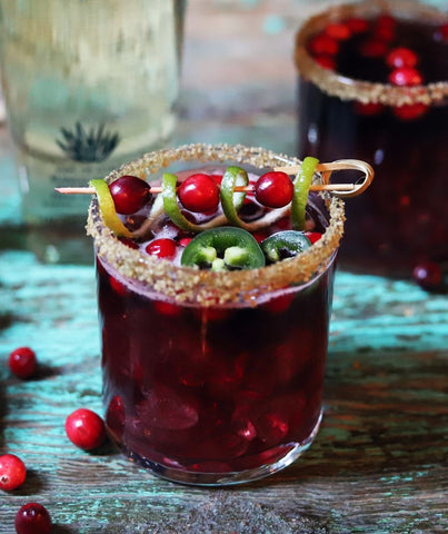 Jalapeño Cranberry Margarita Recipe by Town & County