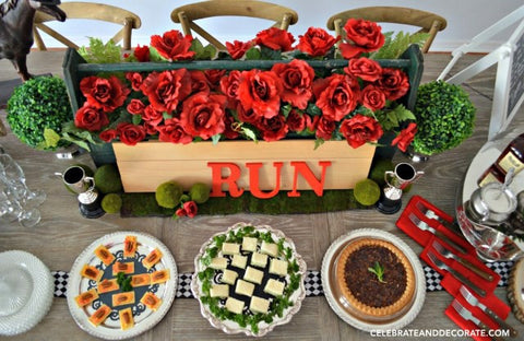 Beau U201cRun For The Rosesu201d Is The Kentucky Derbyu0027s Nickname So You Can Start From  There When Planning The Decorations. Start With The Classic Flower, ...