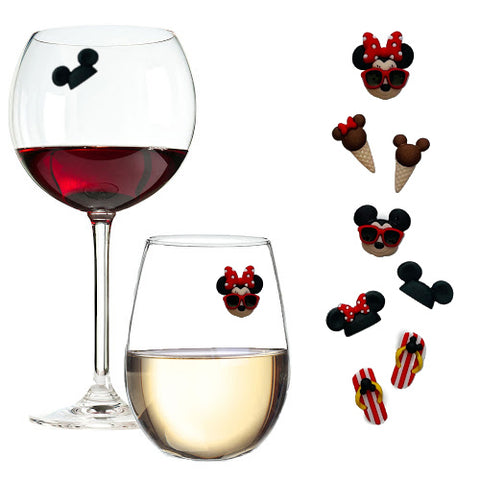 America's Favorite Mice Wine Glass Charms by Simply Charmed
