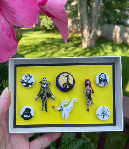 Nightmare Before Halloween/Christmas Wine Glass Charms by Simply Charmed