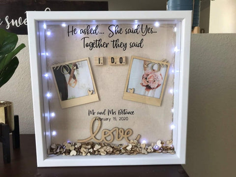 Shadow Box with Wedding Date by oceanbaycrafts
