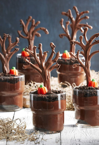 Spooky Forest Pudding Cups from Tara Bench of Country Living