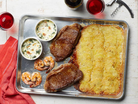 Steakhouse Sheet Pan Dinner for Two by Food Network Kitchen