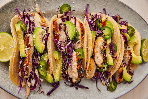Tequila-Lime Chicken Tacos by Lindsay Funston