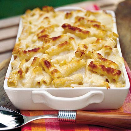 Three-Cheese Pasta Bake by Amy Faggart