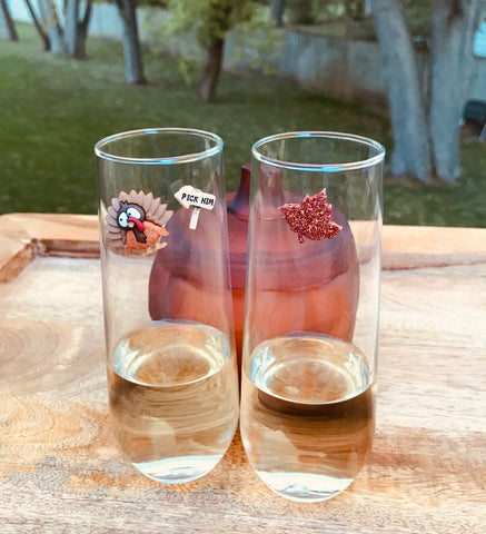 Wine Glass Charms for Thanksgiving, Fall or Autumn