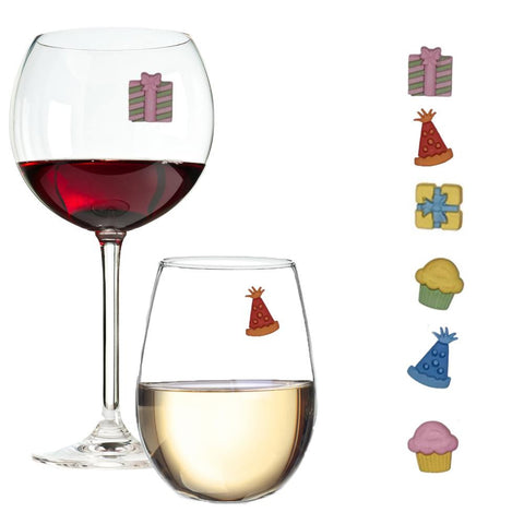 birthday party wine charms