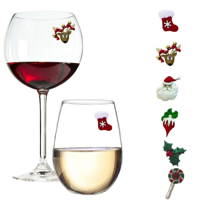 Christmas Traditions - Holiday Wine Charms for Every Glass