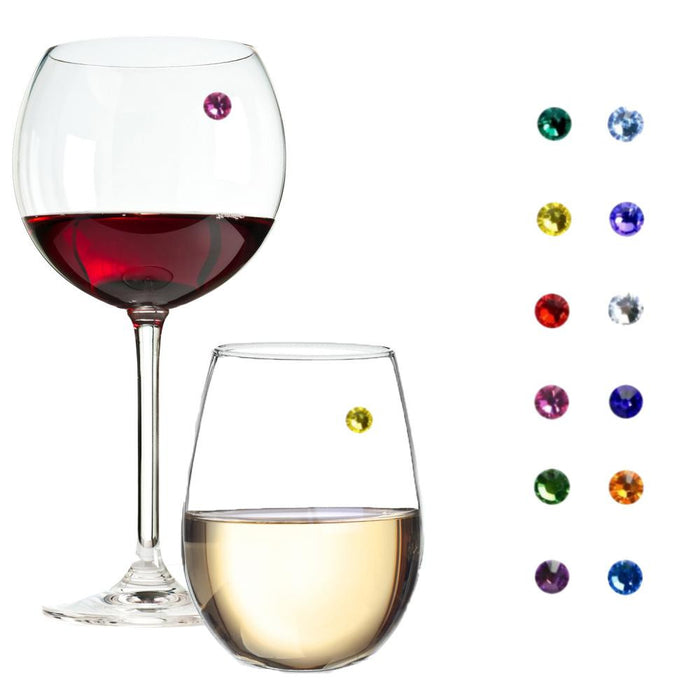 Swarovski™ Crystal Magnetic Wine Glass Charms Set of 12