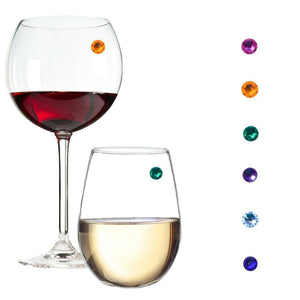 Swarovski crystal wine charms