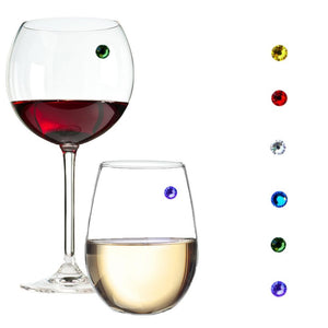 Swarovski crystal magnetic wine charms