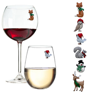 winter Christmas wine charms