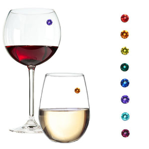 Swarovski crystal wine glass charms magnetic