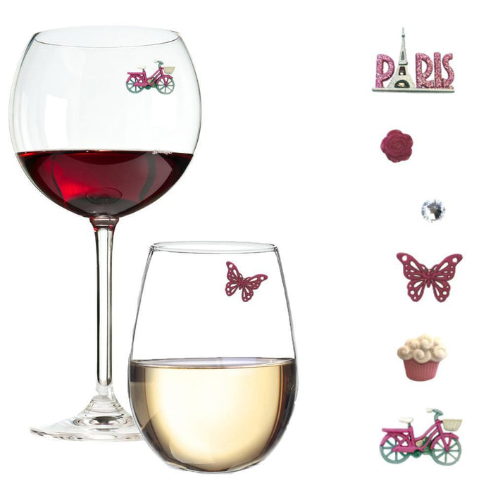 Paris Wine Glass Charms