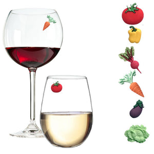 Garden Veggie Magnetic Wine Charms