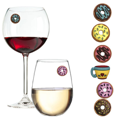 Donuts wine glass charms