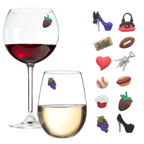 magnetic wine charms
