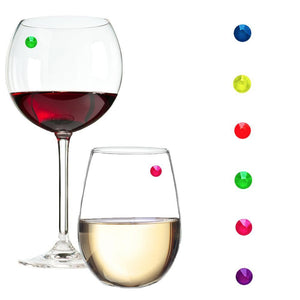 Neon Swarovski crystal wine charms