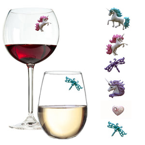 unicorn wine charms